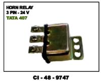 Horn Relay 3 Pin  12 V  Tata 407 (Cinew)