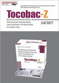 Saccharomycin Boulardii 282.50mg + Saccharomycin cerevisiae 250mg + Lactic Acid Bacillus 100ms + Zinc Acetate 10mg
