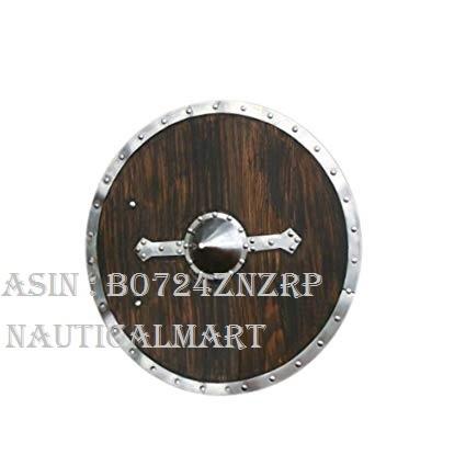 NAUTICALMART Armor Viking Shield - Brown - Full Size Replica Medieval Shield