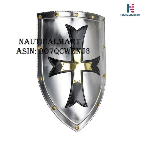 NAUTICALMART Crusader Steel Shield - 18 Gauge Steel