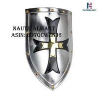 NAUTICALMART Crusader Steel Shield - 18 Gauge Steel