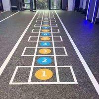 customized indoor pvc gym floor commercial vinyl sports flooring tiles