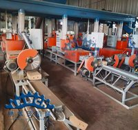 Fully Auto Wood Sawdust Pallet Feet Machine