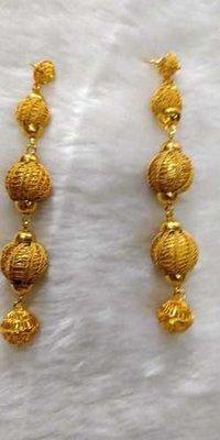 African yellow earrings