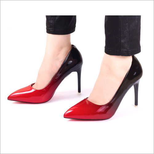Red Ombre Pumps High Heel