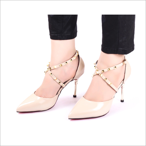 Cross Nude Pumps High Heel