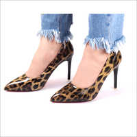 Panther Yellow Pumps High Heel