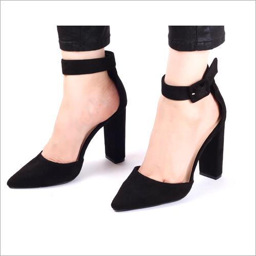 Electrik Black High Heels Sandals