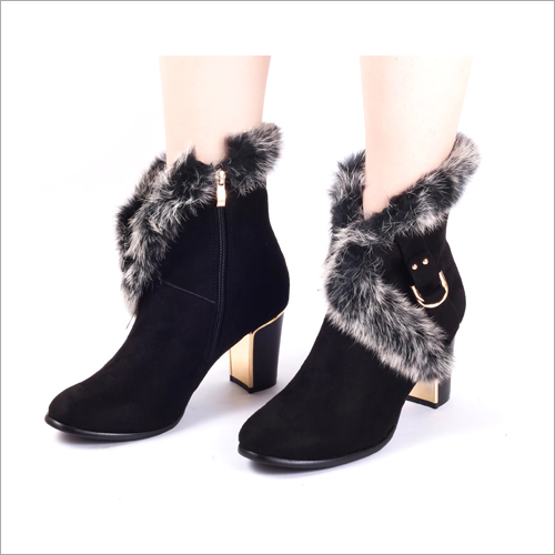 Urban Black Suede Ankle Boots