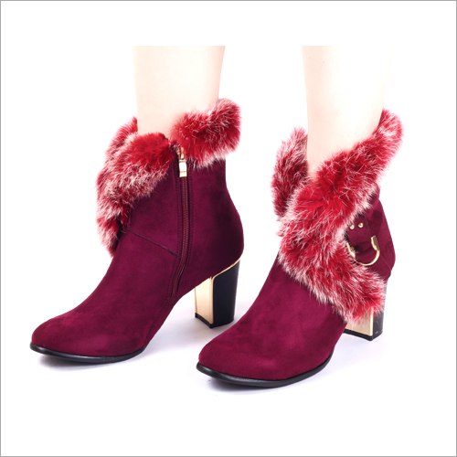 Urban Maroon Suede Boots
