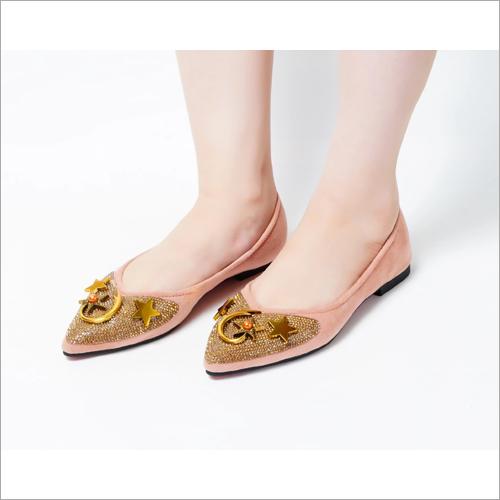Moon Pink Slip On Flat Loafer