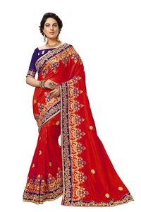 traditional embroidered and embellished silk saree collection