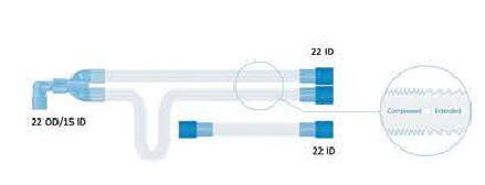 Basic Expandable Breathing Circuit (22 mm) Adult