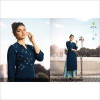Ladies Blue Designer Kurti