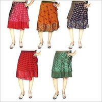 Silk Wrap Around Skirts