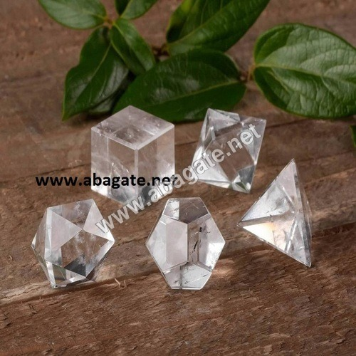 Clear Crystal Geometric Set