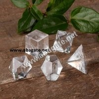 Clear Crystal Geometric Set