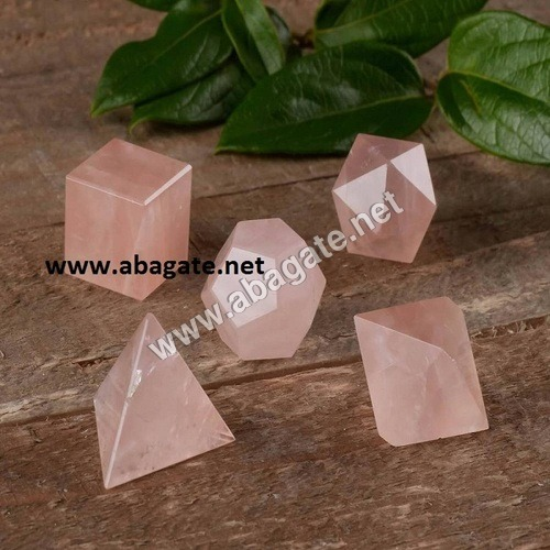 Rose Quartz Geometric Set