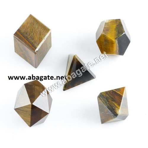 Tiger Eye Geometric Set