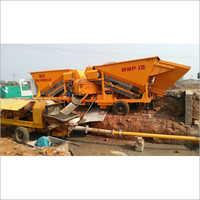 Maxmech MMP-15 Mobile Concrete Batching Plant, Capacity 15 m3  hr