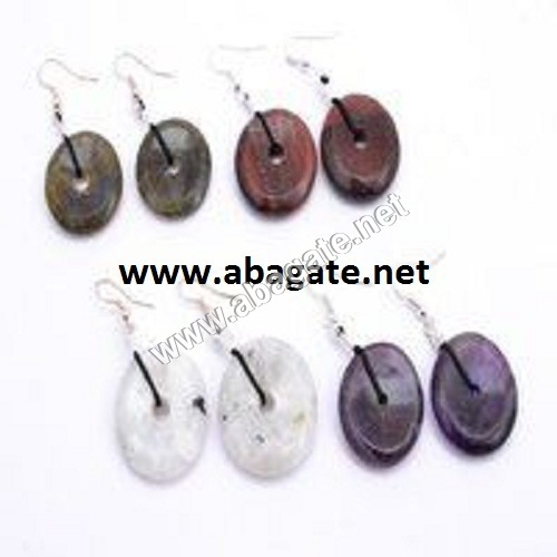 Agate Donut Earrings