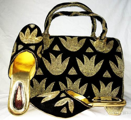Embroidery Ethnic shoes & bag