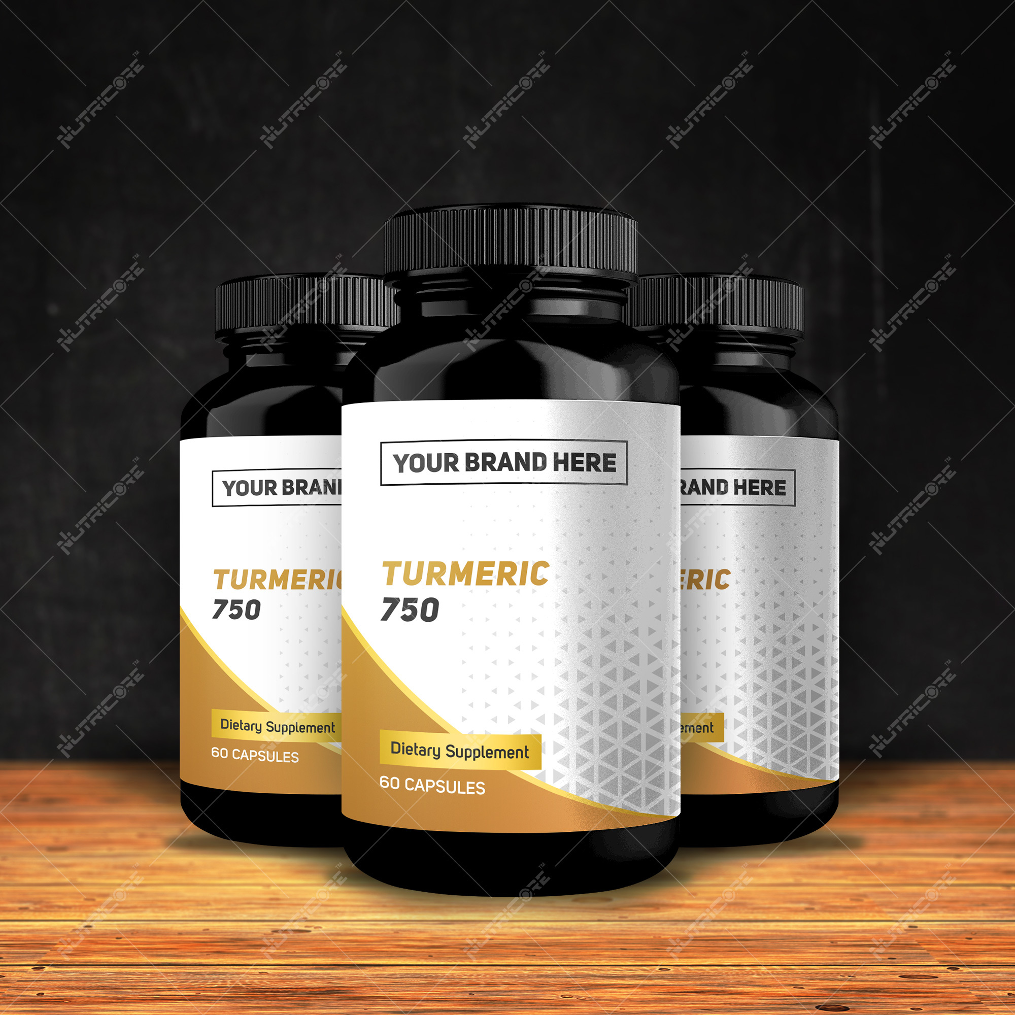 Private Lable for Turmeric 500/750 mg Capsule