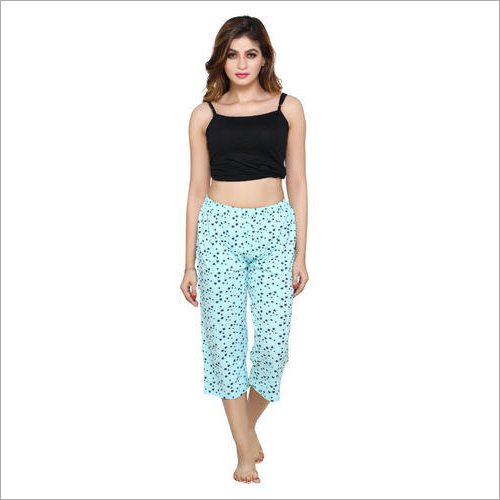Ladies Nightwear Printed Capri