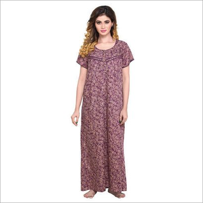 Available In Different Color Ladies Nightgown