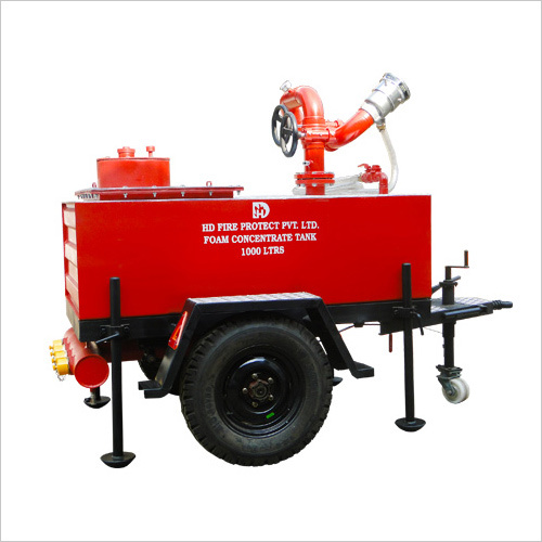 Trailer Mounted Water Foam Monitor with Storage Tank
