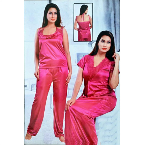 Ladies Satin 2 Piece Night Dress