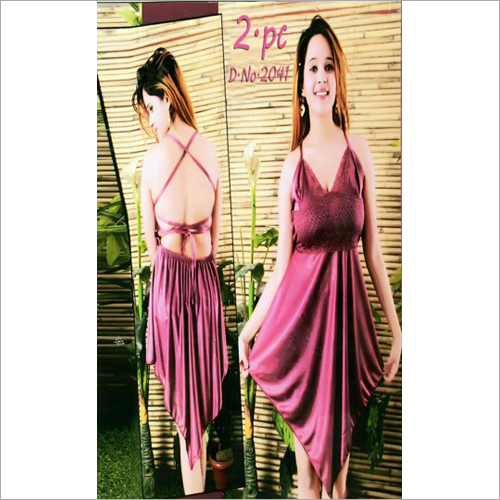 Ladies Satin Night Dress