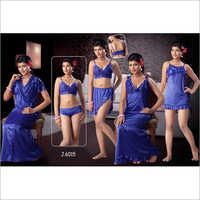 5 Piece Designer Night Dress