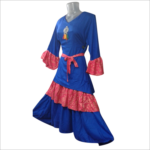 Ladies Four Layer Ruffle Kurti