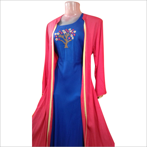 Ladies Long Jacket Gown