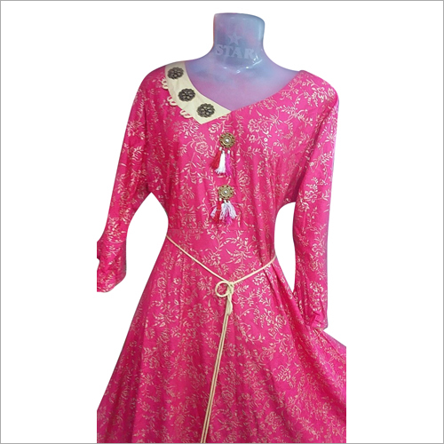 Digital Gold Printed Kurti