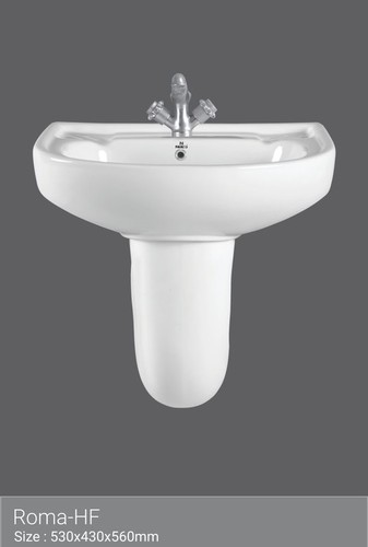 Basin with Half Pedestal