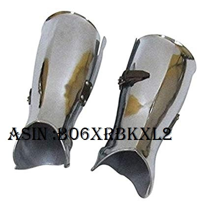 NAUTICALMART Armor Lower Leg Steel Armor - Metallic - One Size