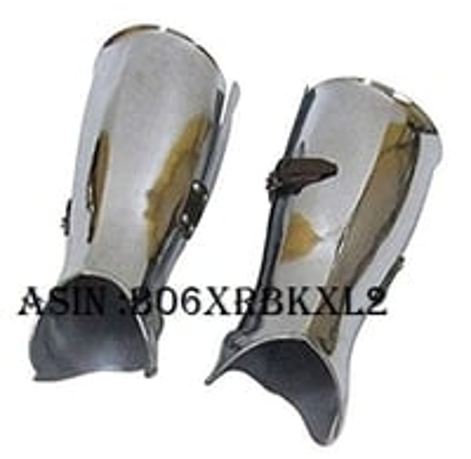 NAUTICALMART Armor Lower Leg Steel Armor - Metallic - One Size