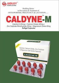 Calcitriol 0.25mcg + Calcium Citrate 425mg + Zinc sulphate Mono 20mg + Magnesium Oxide 40mg (Softgel Capsule)