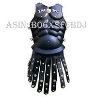 NAUTICALMART Royal Greek Armor Muscled Cuirass - One Size - Black Armour