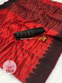 Jequard Fabrics With Georgatte Fabrics Sarees