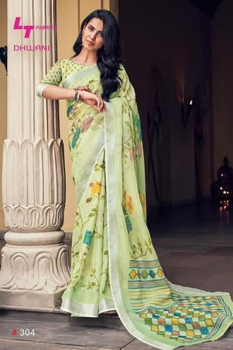 New Linen Saree