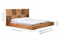 Wooden designer Bed Divine