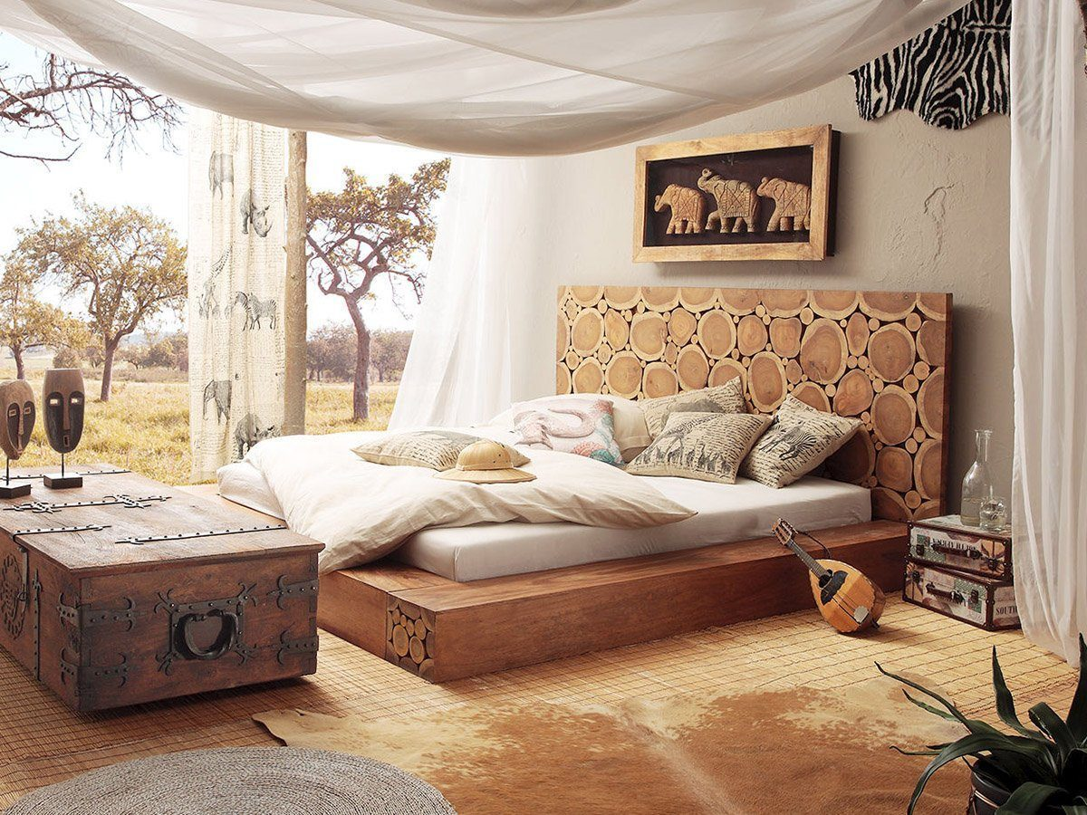 Wooden Designer Bed Glamour