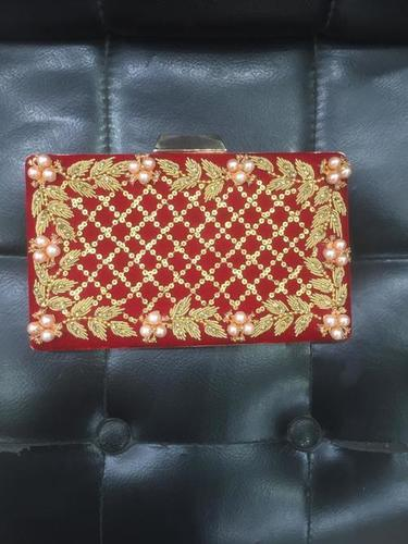 Clutches purse red color