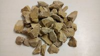 yellow crushed aggregate for landscaping or paving