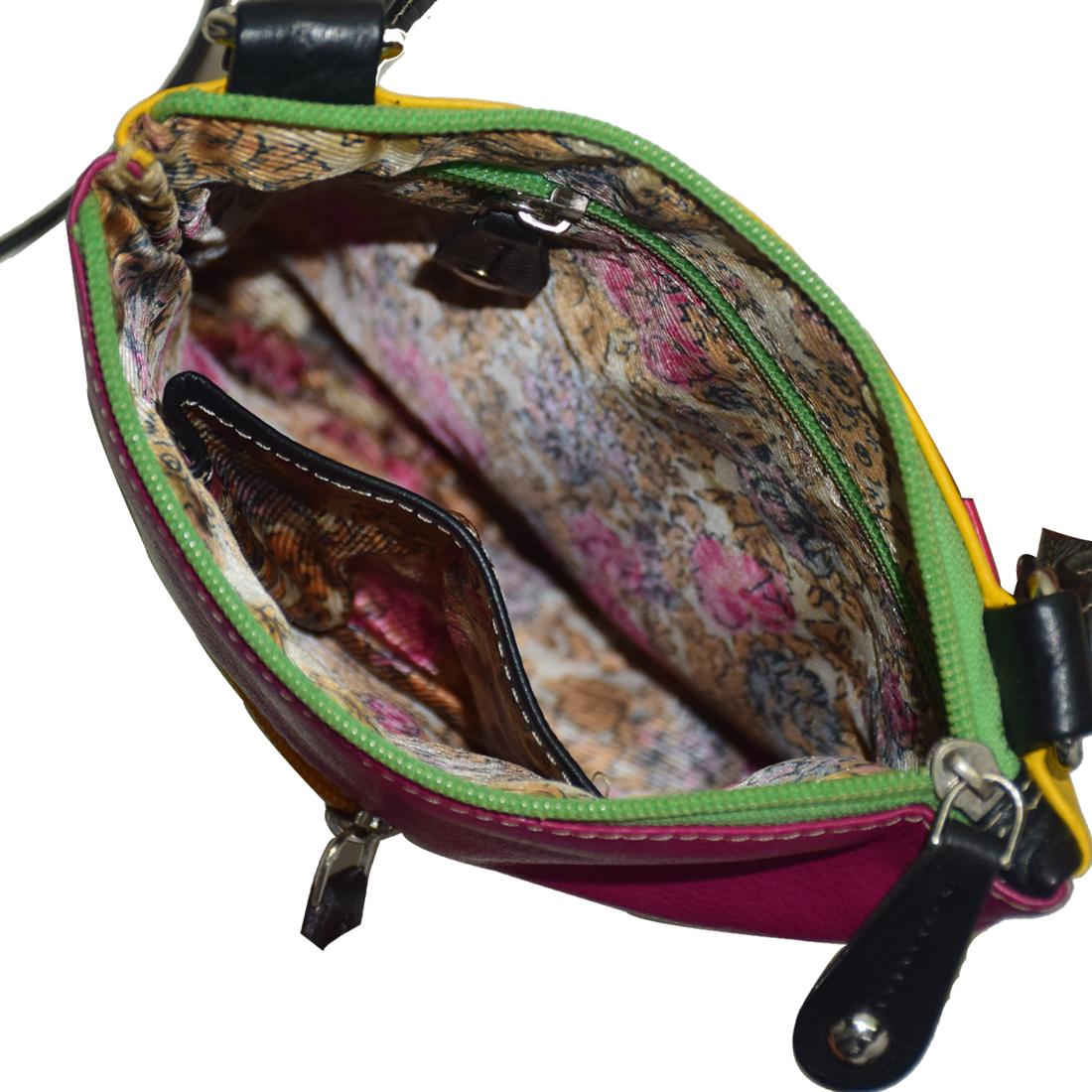 Multi Color Leather Crossbody Sling Bag