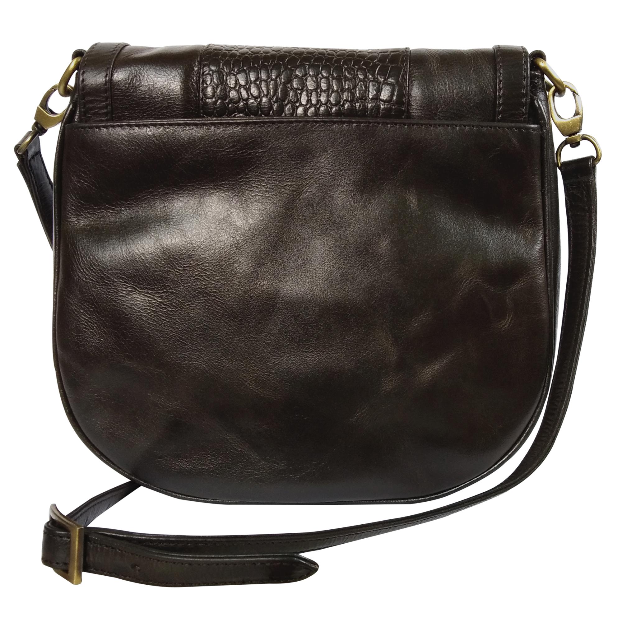Women Leather Trendy Sling Bag