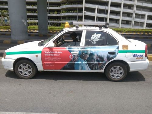 taxi cab advertising